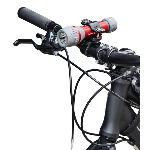 HAMA 136674 Universal Torch Mount for Handlebars, can be rotated 360°, black