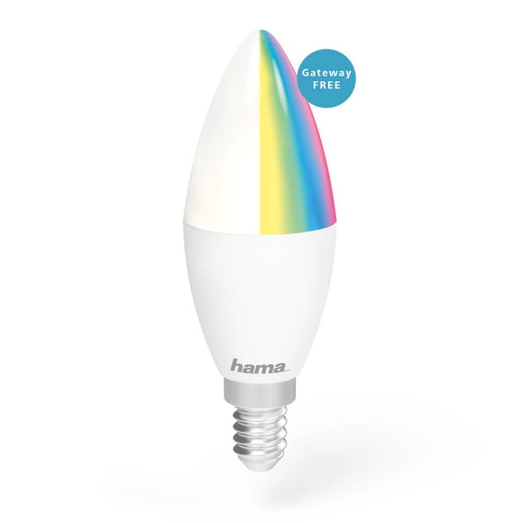 Hama 176549 WiFi-LED Light, E14, 4.5W, RGB, can be dimmed
