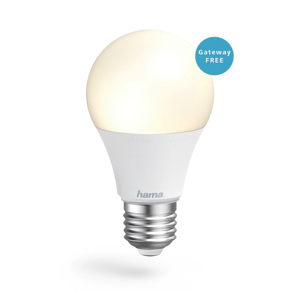 Hama 176550 WiFi-LED Light, E27, 10W, white, can be dimmed