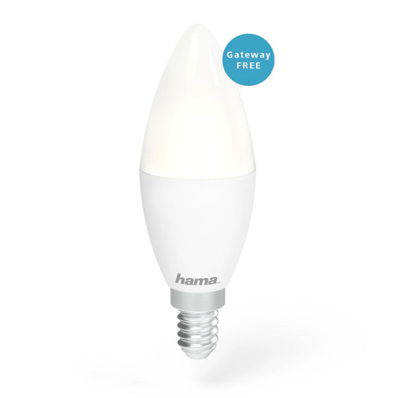 Hama 176559 WiFi-LED Light, E14, 4.5W, white, can be dimmed