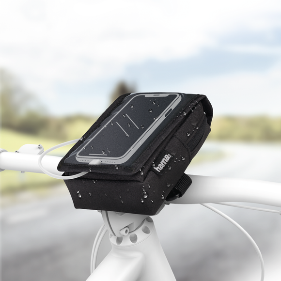 HAMA 178252 Universal Smartphone Bicycle Holder Bag for devices up to 8 cm wide and 14 cm high