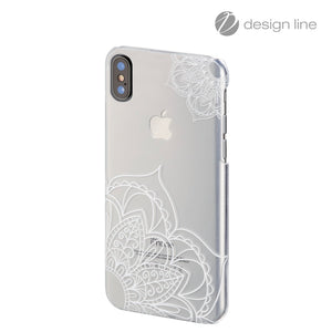"HAMA 181647 ""Lotus"" Cover for Apple iPhone X, transparent/white"