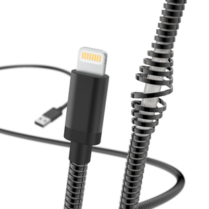 "HAMA 183339 ""Metal"" Charging/Data Cable, Lightning, 1.5 m, black"