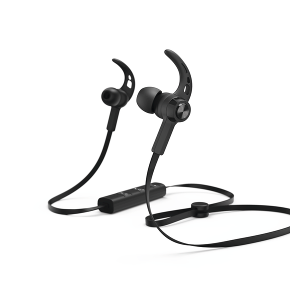 Hama COMBO 184020 Bluetooth® Headphones, In Ear, Micro, Ear Hook, black +