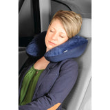 Hama 105366 2in1 micro pearl travel pillow, Dark Blue / Berry