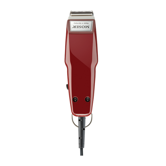 MOSER 1411-0081 HAIR TRIMMER GREY/RED UK-PLUG 220-24