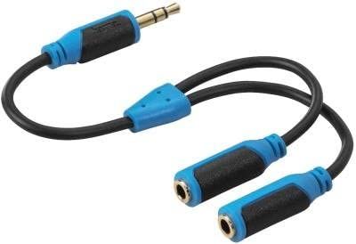 HAMA 108358 SOFT AUDIO SPLITTER 3.5MM STEREO