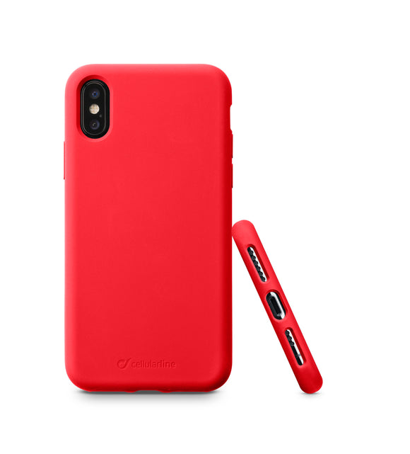 CELLULARLINE SENSATIONIPH8XR SOFT RED CASE IPH X