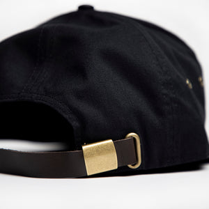 Black Panel Hat with Silicone Patch