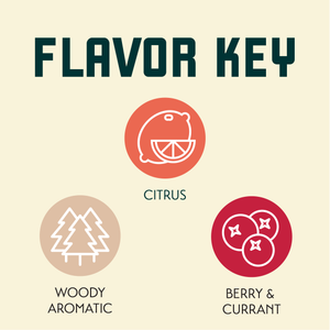 Pacific Gem Hop Flavor Key