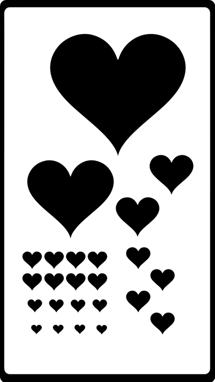 Heart Stencil - Various Sizes