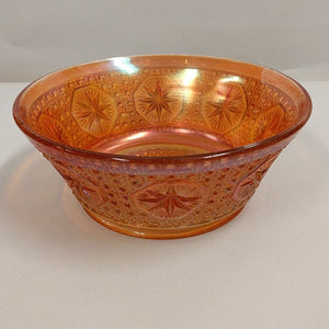 Carnival Glass Imperial Marigold Star Bowl