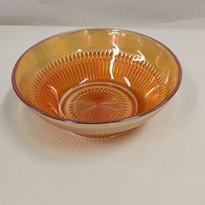 Carnival Glass Old Anniversary Marigold Bowl