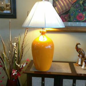 Vintage Orange Ceramic Lamp