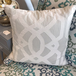 "NEW 19"" Gray Pillow Cover & Feather Insert"