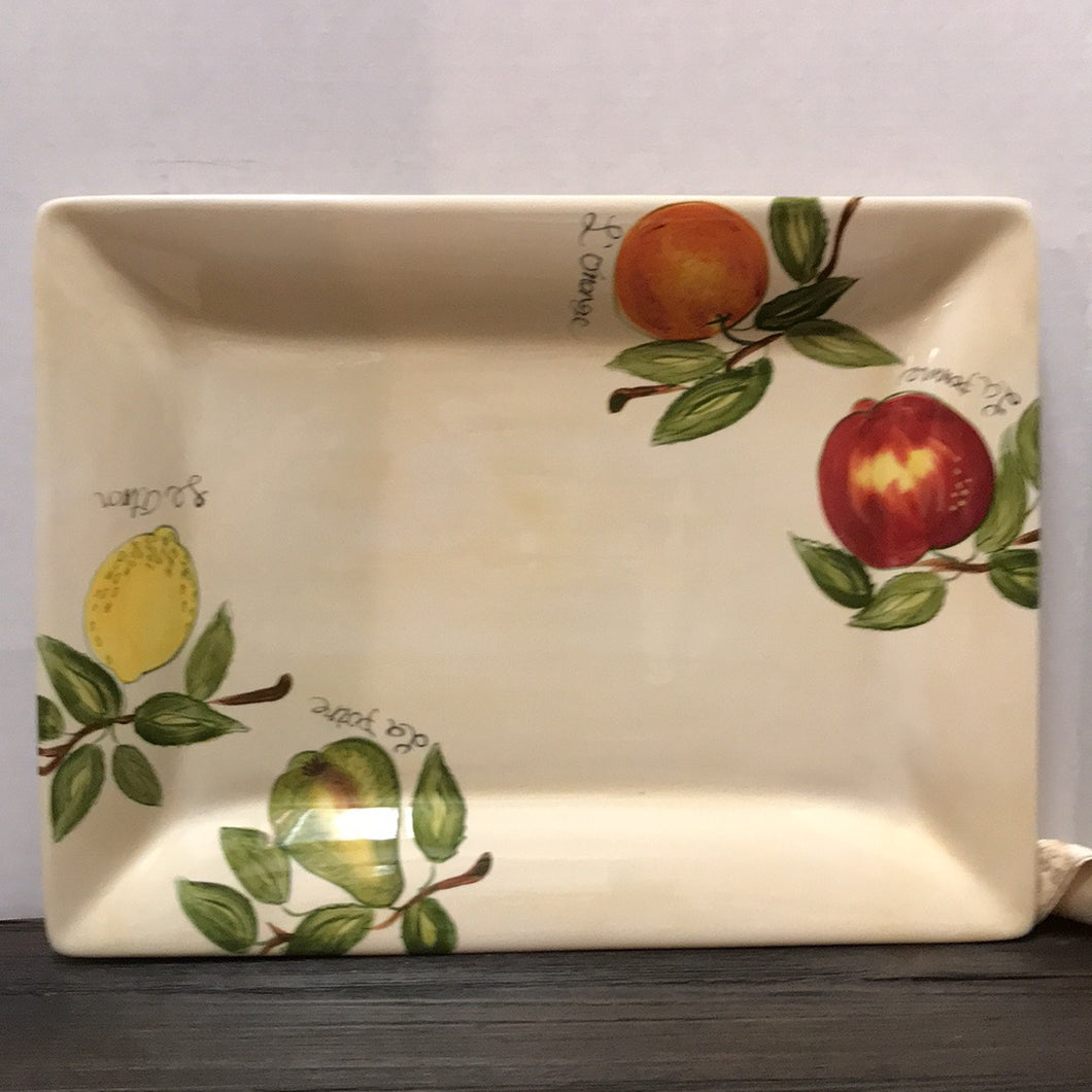 12x16 Hand Painted Fruit Serving Tray