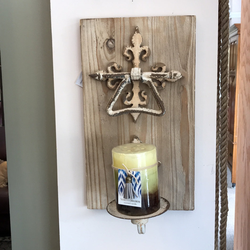 NEW Wood Wall Candle Holder