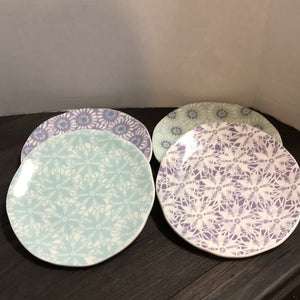 "NEW 4-Pc SET 8"" Ceramic Plates by Grasslands Road - 4 Designs"