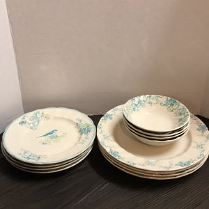 SET 12-Pc Johnson Bros. Vintage Charm Dinnerware: 4 dinner, 4 salad, 4 bowl