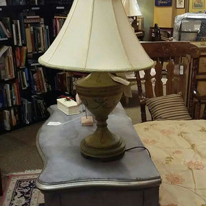 "NEW 27"" Painted Green Table Lamp w/ Shade"