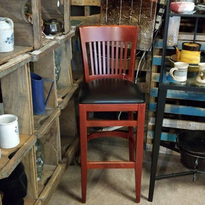 Slat Back Bar Stool 30""