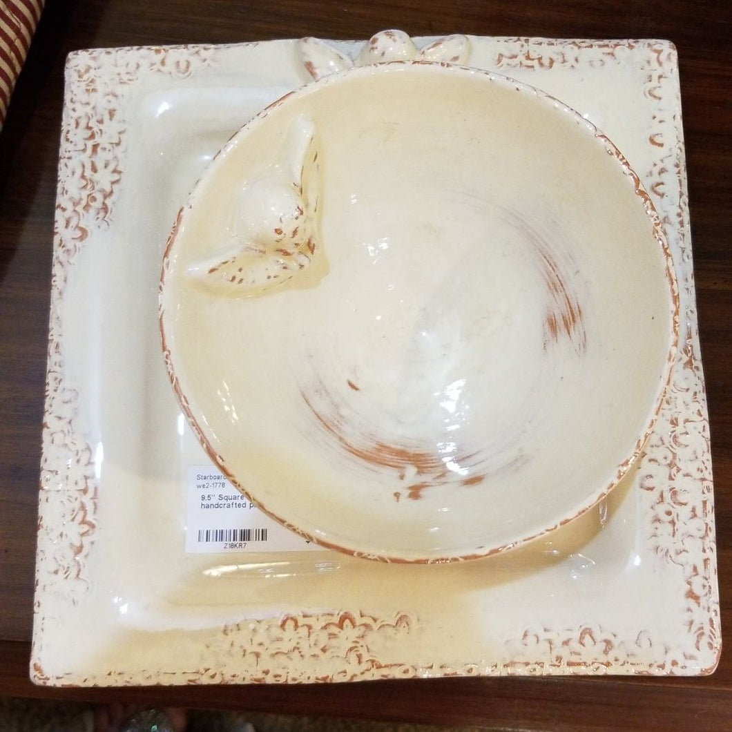 Square les anges d' Avignon Handcrafted Platter