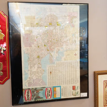 Load image into Gallery viewer, Vintage Framed Tampa Street Map