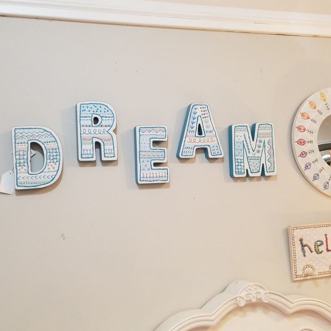 NEW Chunky Letters - DREAM Blue - 28154