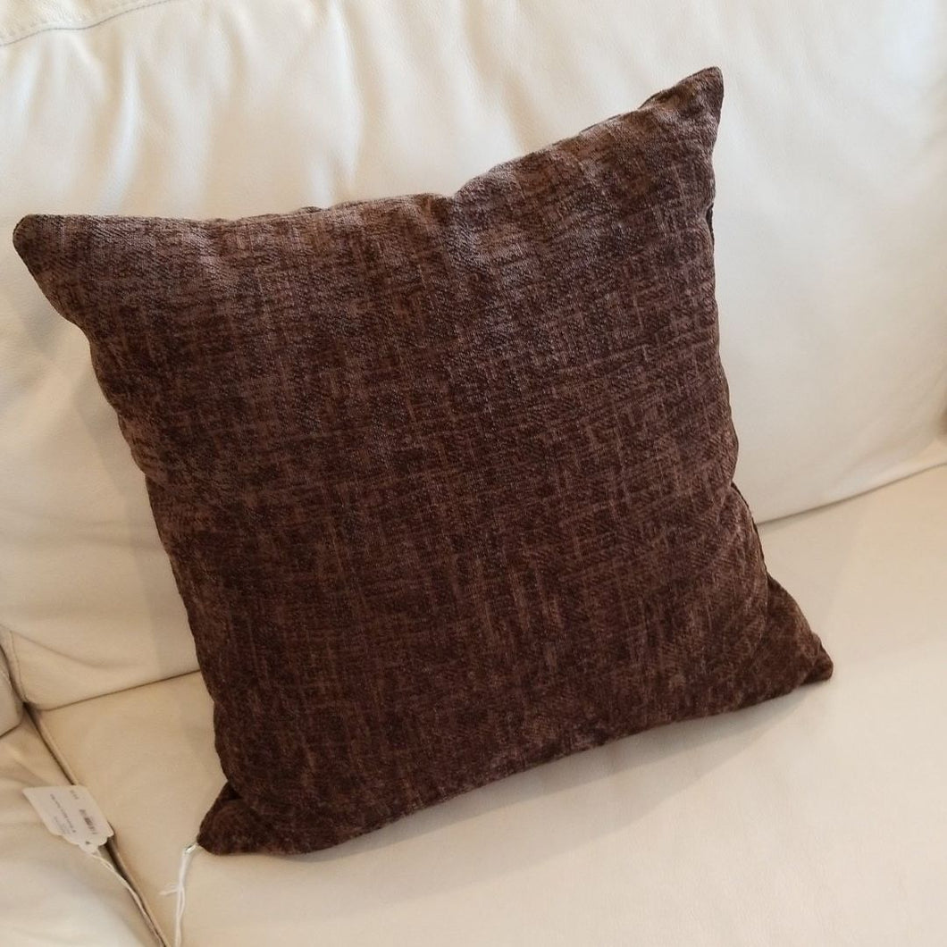 Brown Square Throw Pillow 16