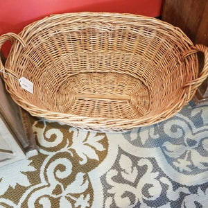 Wicker Basket with Handles 24""