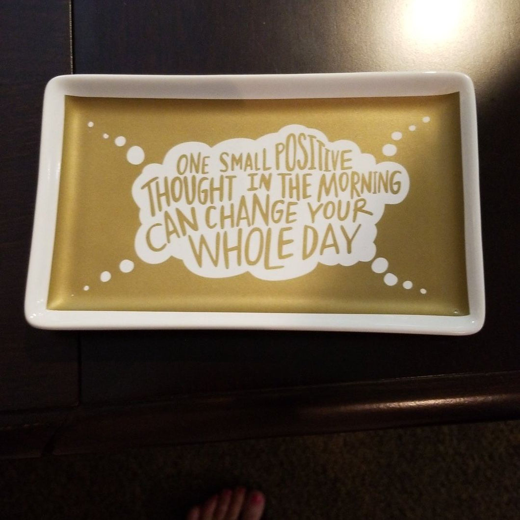 NEW Trinket Tray - One Thought - 33548