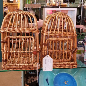 NEW - SMALL 6x6x10 Rattan Birdcage