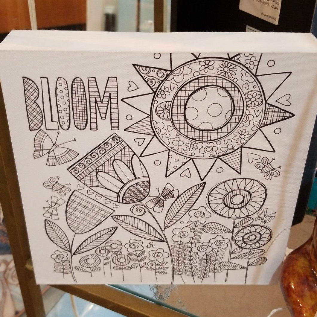 NEW 8x8 Bloom Color Box Sign