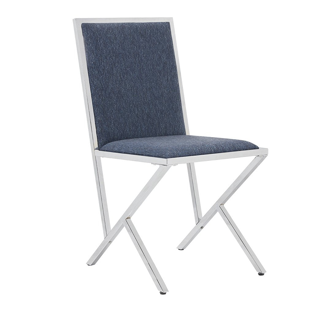 NEW Pair of Obsidian Dining Chairs - Blue