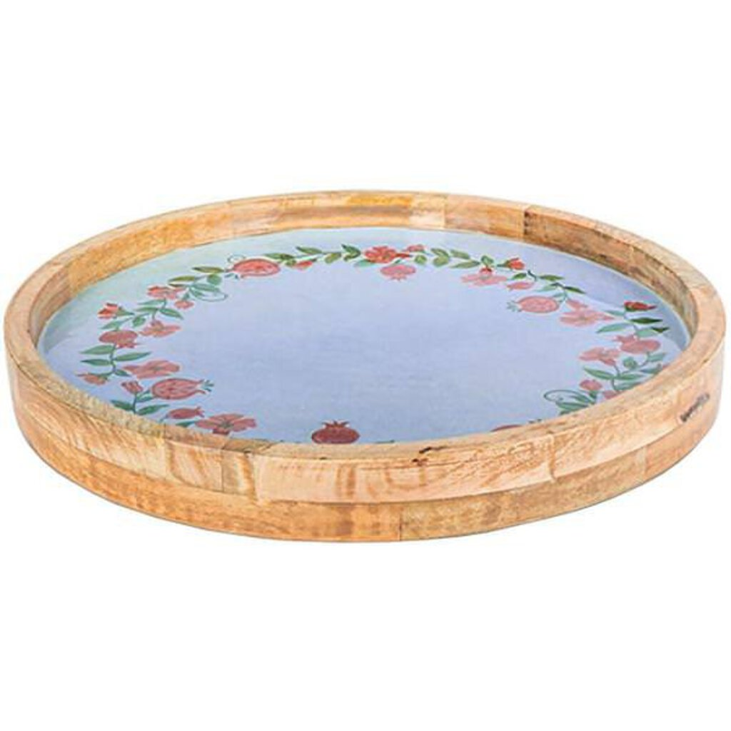 NEW Pomegranate Mango Wood Serving Tray - 94552