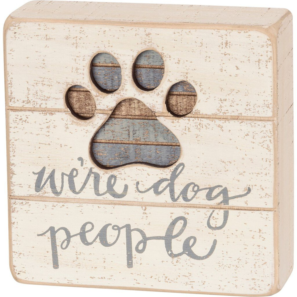 NEW Slat Box Sign - Dog People - 38232