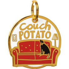 Load image into Gallery viewer, NEW Collar Charm - Couch Potato - 100351
