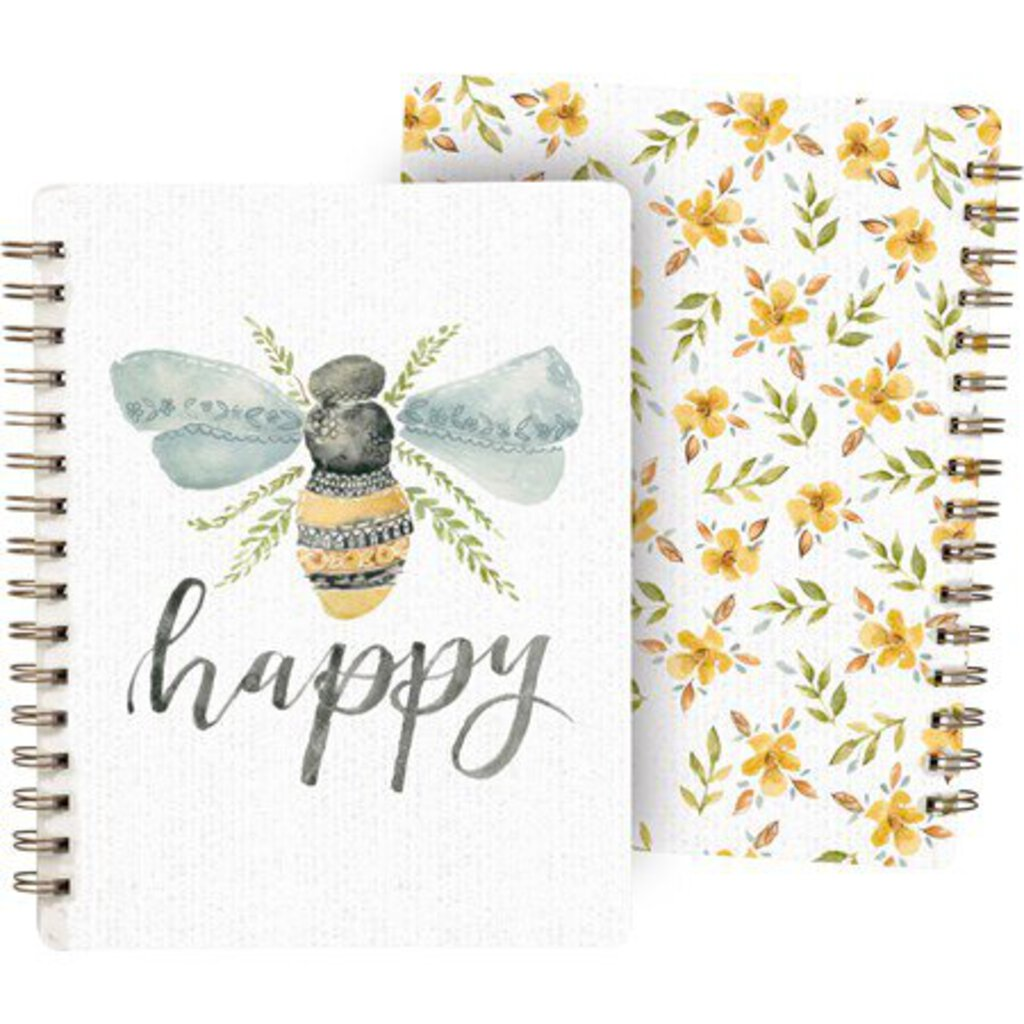 NEW Spiral Notebook - Be Happy - 101755
