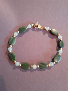 Jade Green Beaded Anklet