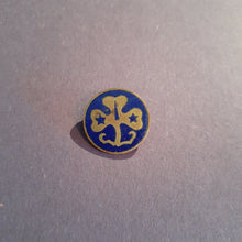Load image into Gallery viewer, VINTAGE Girl Scouts Blue Clover Lapel Pin