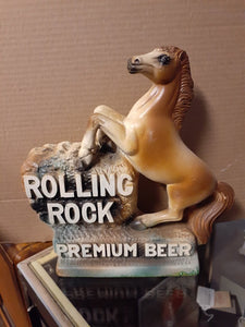 Vintage Rolling Rock Advert. Horse Plaque