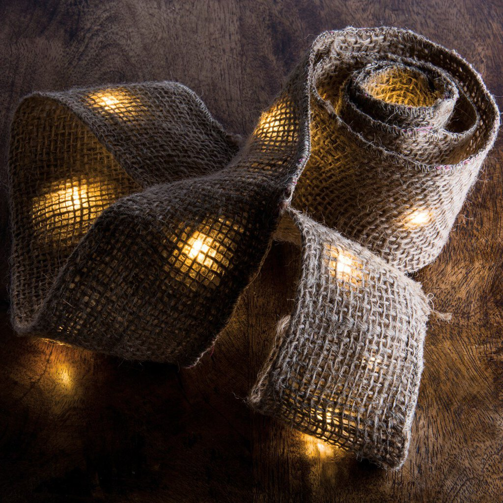 NEW Lighted Burlap Ribbon - 29299