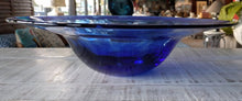 "Load image into Gallery viewer, 12"" Cobalt Blue Glass Bowl"