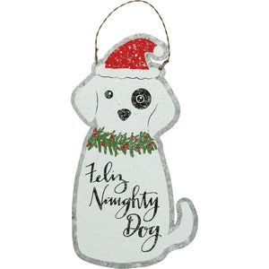 NEW Ornament - Feliz Naughty Dog - 39746