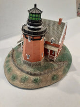 "Load image into Gallery viewer, Danbury Mint Historic American Lighthouses Collection: ""Block Island Southeast Lighthouse"" WITH BOX"
