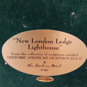 "Danbury Mint Historic American Lighthouses II Collection: ""New London Ledge Lighthouse"" WITH BOX"