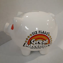 Load image into Gallery viewer, Six Flags Vintage Piggy Bank