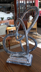 "NEW 17"" Metal 3 Ring Sculpture - Black"