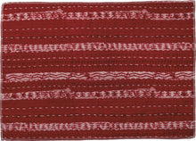 Load image into Gallery viewer, NEW Set of 4 Kantha Placemats - Decor Stripes Red - 38670