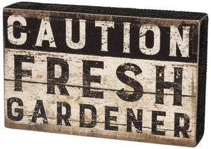 NEW Box Sign - Caution Fresh - 30050